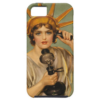 Vintage Statue of Liberty, WWI Patriotic War Ad iPhone 5 Cover