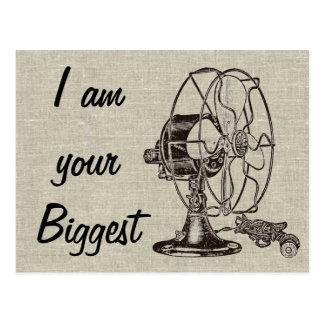 Vintage Steampunk I Am Your Biggest Fan Postcard