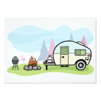 Vintage Style Camper Invitations