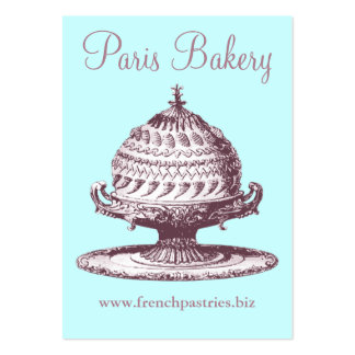 Vintage Style Card for Bakery, Coffee Shop, Cafe Pack Of Chubby Business Cards