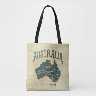 Vintage Style Map of Australia Tote Bag