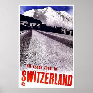 """Vintage Swiss Travel Poster"" Poster"