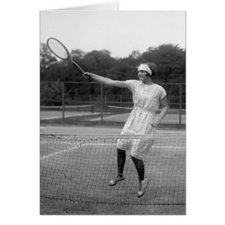 Vintage Tennis Outfit, 1920s Greeting Card