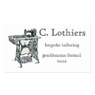 Vintage themed tailoring business card
