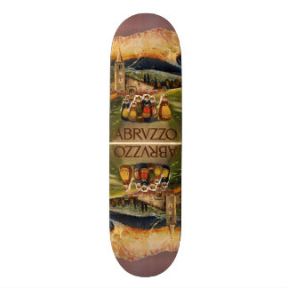 Vintage Travel Abrvzzo Italy skateboards