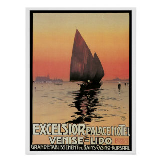 Vintage Travel,Excelsior Palace Hotel Italy Poster