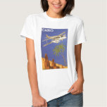 Vintage Travel Poster Cairo Egypt Africa Aeroplane Tshirt