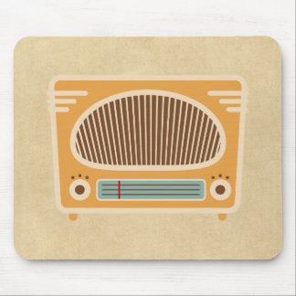 Vintage Tube Radio Collector Mouse Pad
