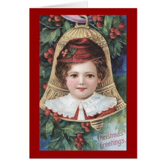 Vintage Victorian Child Christmas Greeting Card