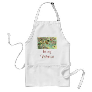 Vintage Victorian Valentines Day Cupids Heart Tree Standard Apron