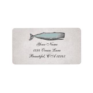 Vintage Victorian Whale Beach Address Address Label
