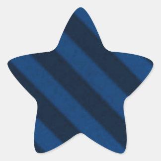 Vintage Wallpaper Sapphire Blue Grunge Primitive Star Sticker