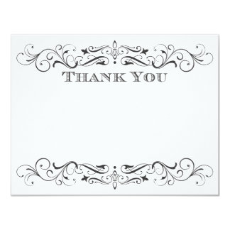 Vintage Wedding Thank You Cards | Elegant Flourish 11 Cm X 14 Cm Invitation Card