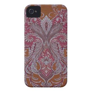Vintage Wine Copper Damask BlackberryBold 97009780 iPhone 4 Case-Mate Cases
