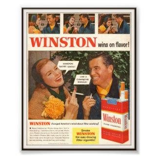 Vintage Winston Cigarette Advertising 1955 Photo