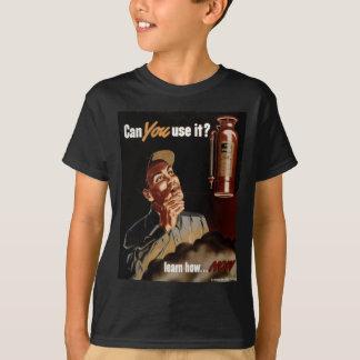 Vintage World War II Fire Extinguisher Safety T Shirt