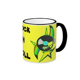 Vinyl Record Rock N Roll Ringer Mug