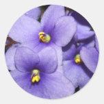 Violet Boquet Round Sticker