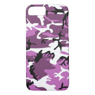 Violet Camo iPhone 7 Case