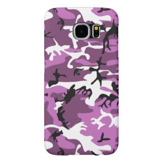 Violet Camo Samsung Galaxy S6 Cases