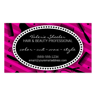Violet Hair & Beauty Appointment Pack Of Standard Business Cards