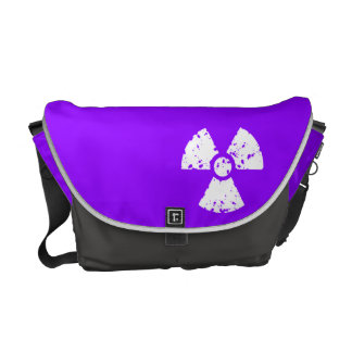 Violet Purple Radioactive Symbol Commuter Bags