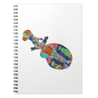 VIOLIN Music Insrument Abstract Colorful Art fun Note Book
