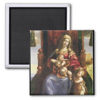 Virgin and Child with the infant St. John Square Magnet