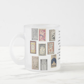 Virginia Woolf Books Frosted Glass Mug