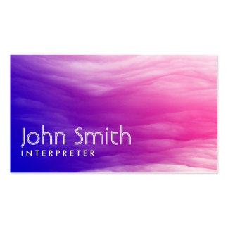Vivid Colorful Clouds Interpreter Business Card