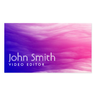 Vivid Colorful Clouds Video Editor Business Card