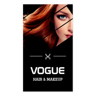 Vogue Girl Stylish Black White Fashion Hairstylist Pack Of Standard Business Cards