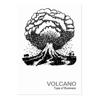 Volcano Pack Of Chubby Business Cards