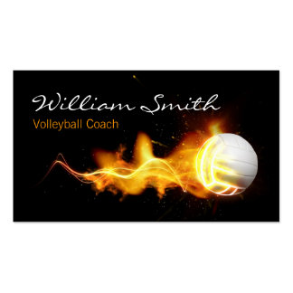 Volleyball Business Coach card Pack Of Standard Business Cards