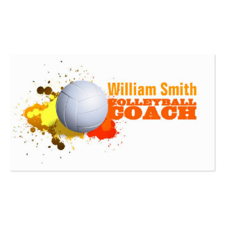 Volleyball Coach Pack Of Standard Business Cards