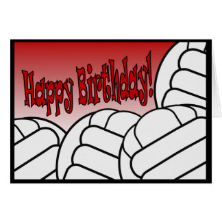 Volleyball - Happy Birthday from Biggest Fan! Greeting Card