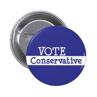 VOTE Conservative 6 Cm Round Badge