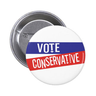 VOTE Conservative Red and Blue 6 Cm Round Badge