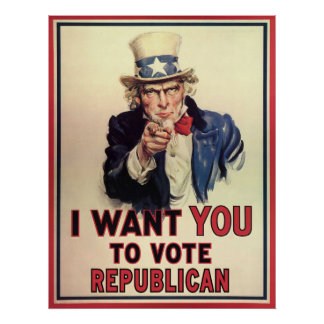 Vote Republican Poster