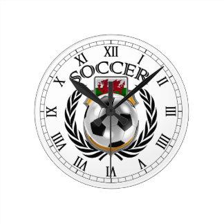 Wales Soccer 2016 Fan Gear Wall Clock