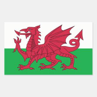Wales/Welsh Flag - United Kingdom Rectangular Sticker
