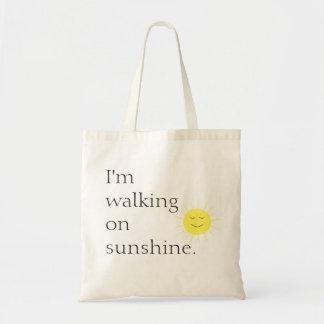 Walking on Sunshine Tote Budget Tote Bag
