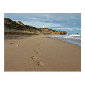 Walking the beach, Great Ocean Road Australia Postcard