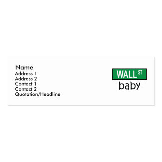 WALL STREET baby - Profile Card Pack Of Skinny Business Cards