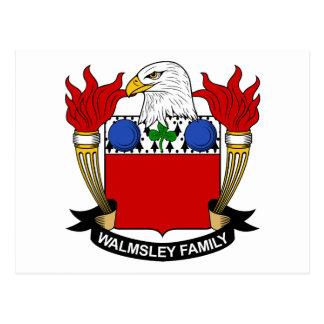 Walmsley Family Crest Postcard