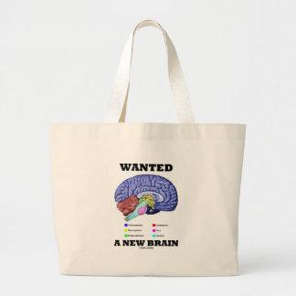 Wanted A New Brain (Anatomical Brain Attitude) Jumbo Tote Bag