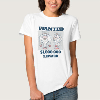 Wanted Poster Abominable Snowman T Shirt