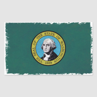 Washington Flag Rectangular Sticker