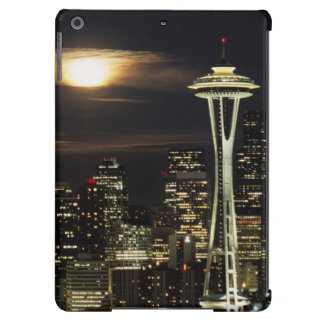 Washington, Seattle, Skyline at night from Kerry 2 Cover For iPad Air