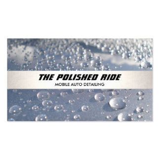 Water Beads Auto Detailing Silver Stripe Pack Of Standard Business Cards